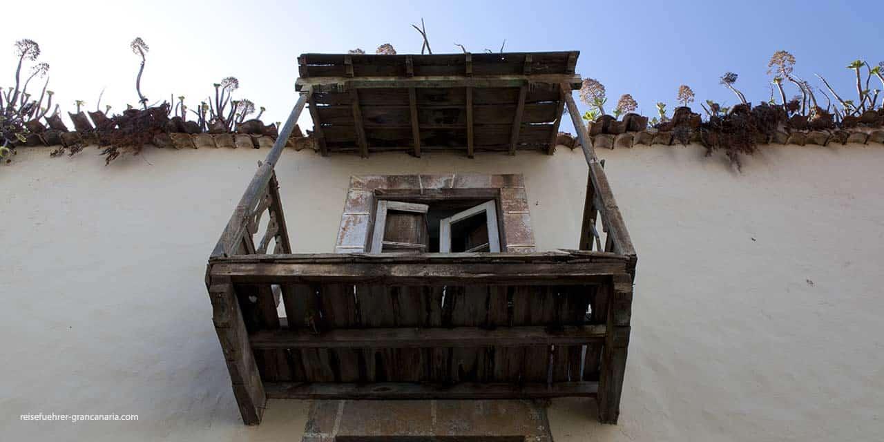 Alter Balkon in Teror, Gran Canaria