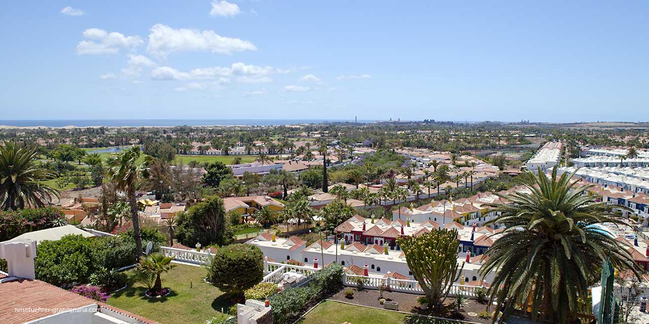 Blick über Maspalomas, Gran Canaria
