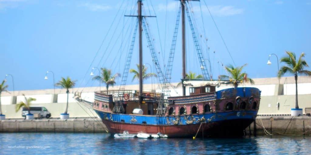 Piratenschiff in Puerto Rico, Gran Canaria