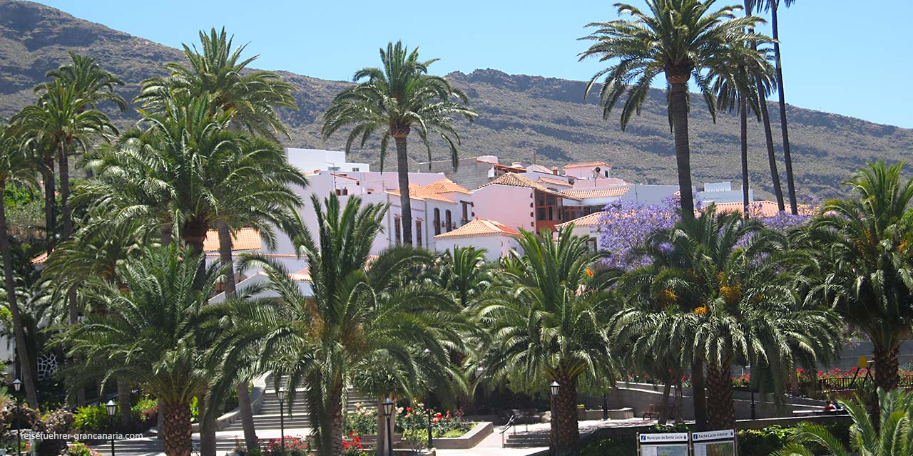 Blick auf's Dorf Santa Lucia de Tirajana, Gran Canaria