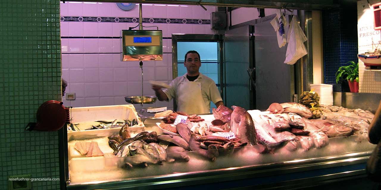 Frischer Fisch im Mercado de Vegueta in Las Palmas