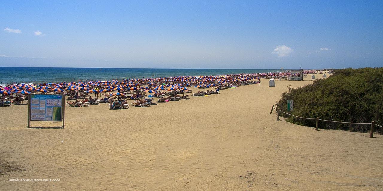 Strand von Playa del Ingles Gran Canaria
