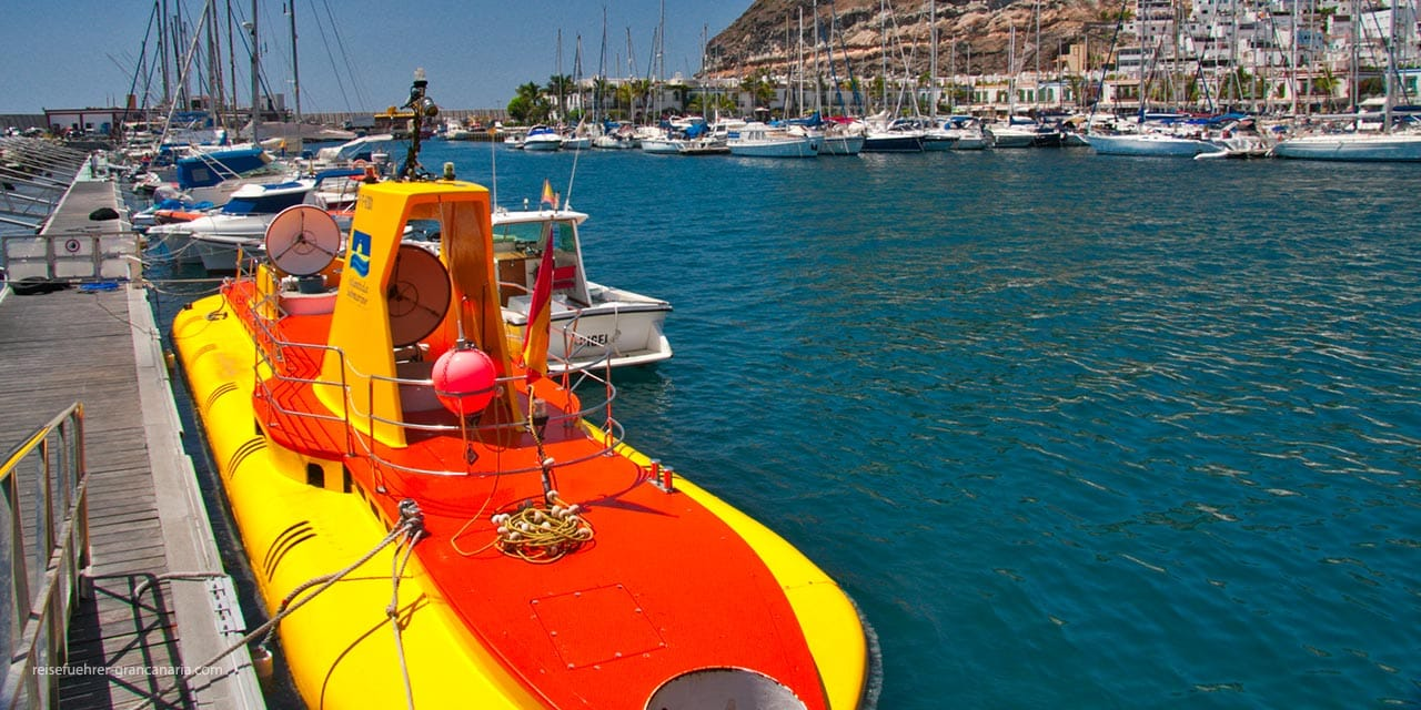 U-Boot in Puerto de Mogan