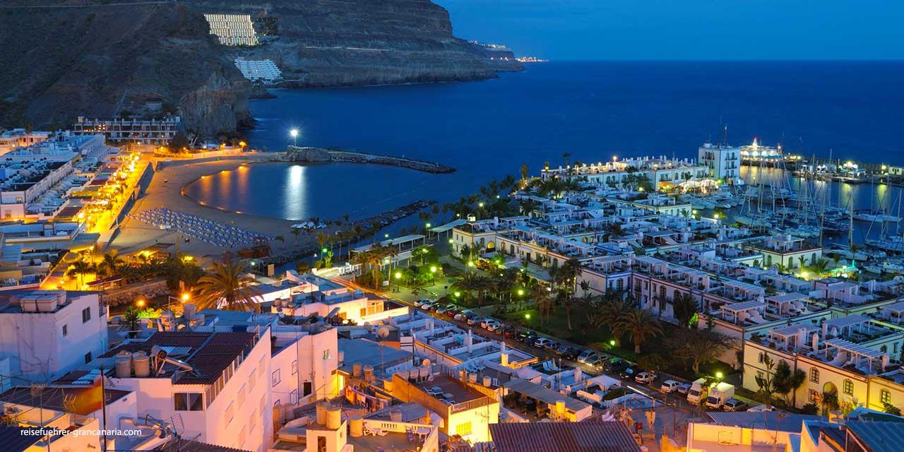 Puerto de Mogan bei Nacht, Gran Canaria