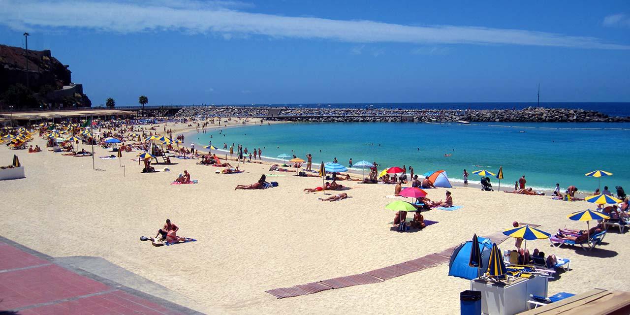 Strand in Los Amadores, Gran Canaria